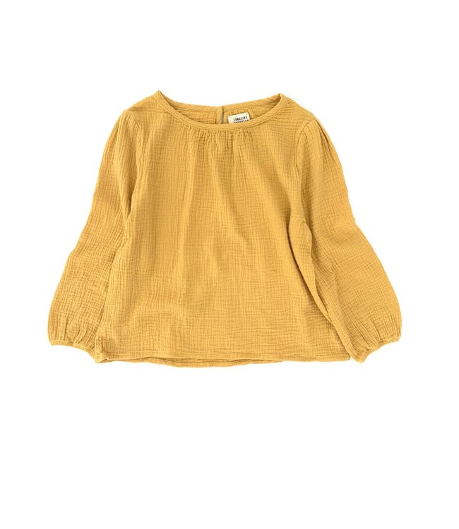 Crinkle blouse - dirty yellow