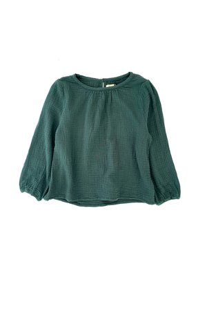 Long Live The Queen Crinkle blouse - dark green