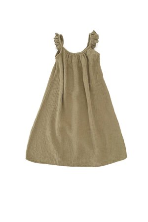 Long Live The Queen Crincle dress - army
