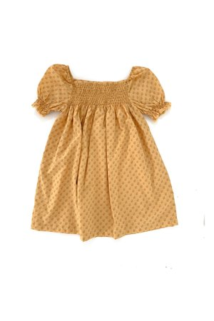 Long Live The Queen Babydoll dress - yellow graphic