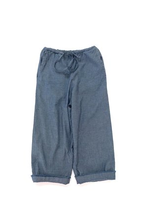 Long Live The Queen Baggy pants - blue chambray