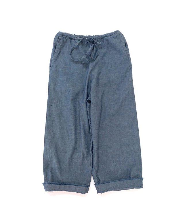 Baggy pants - blue chambray