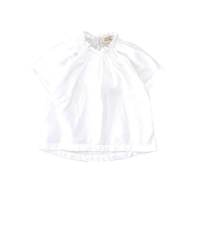 Long Live The Queen Smock blouse - white