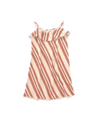Long Live The Queen Velvet dress - orange stripe