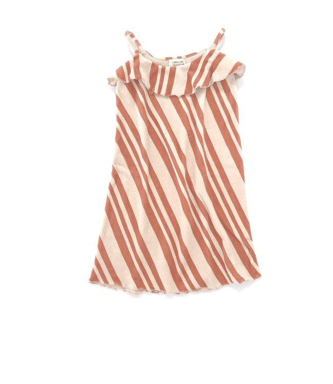 Long Live The Queen Velvet dress - orange stripe