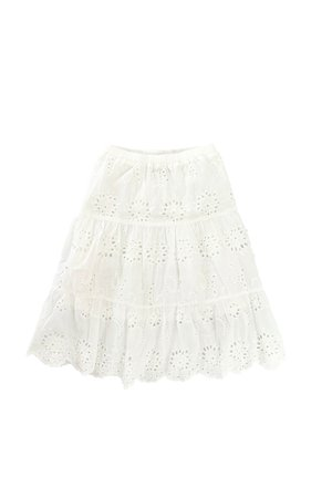 Long Live The Queen Lolita skirt - white broderie