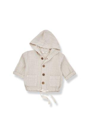 1+inthefamily Yago hood jacket - beige