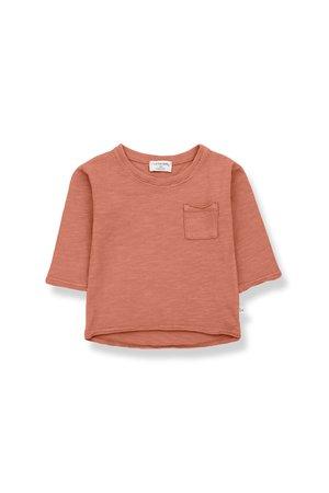 1+inthefamily Pere long sleeve t-shirt - rooibos