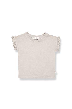 1+inthefamily Mireia short sleeve t-shirt - stone