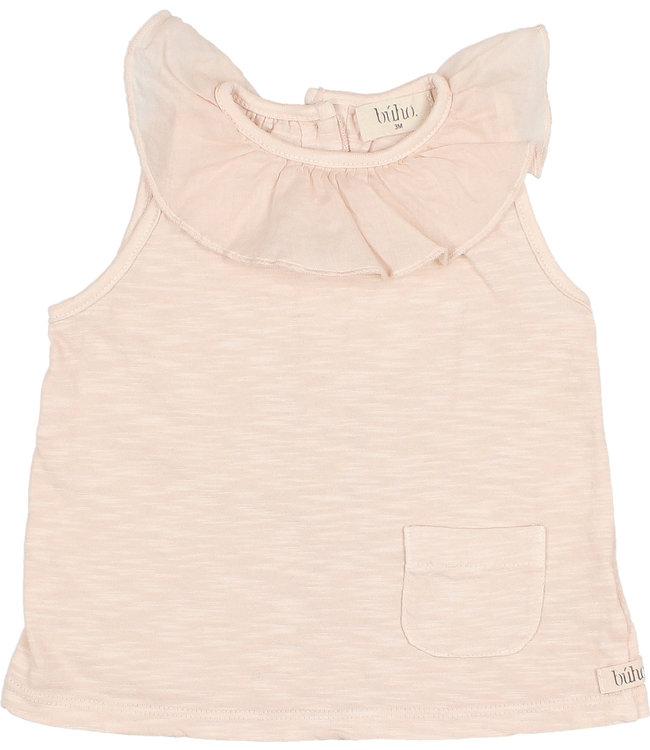 Buho Frill collar t-shirt - rose