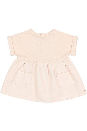 Buho Combi pockets dress - rose