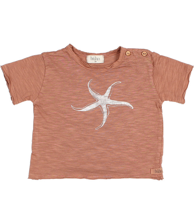 "Buho Baby ""starfish"" t-shirt - cocoa"