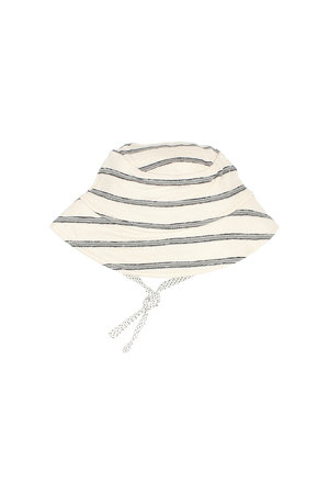 "Buho Baby ""navy stripes"" hat - cloud"