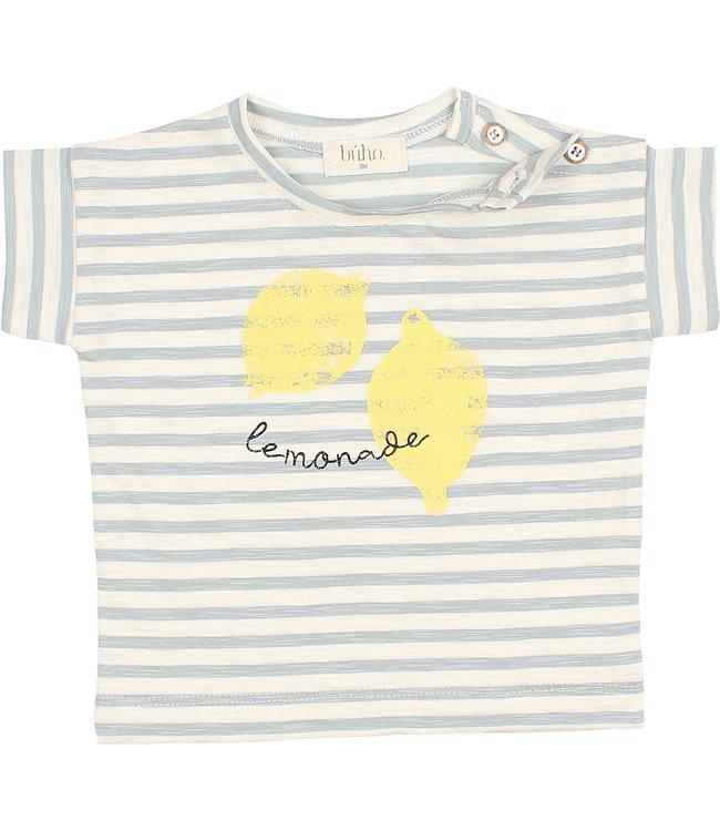 Buho Baby stripes t-shirt - cloud