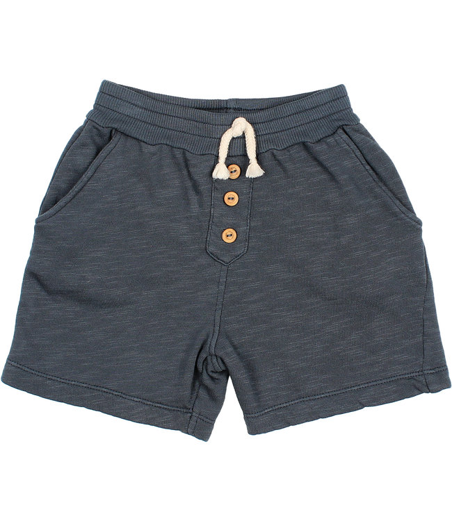 Buho Fleece jogging short - blue night