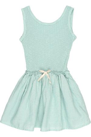 Buho Lurex combi dress - almond