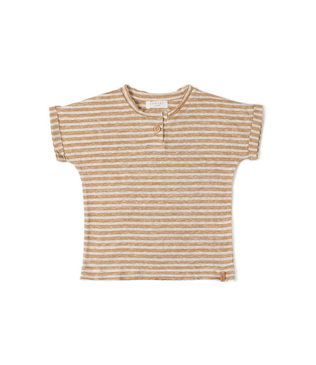Nixnut Be tshirt stripe - dust caramel