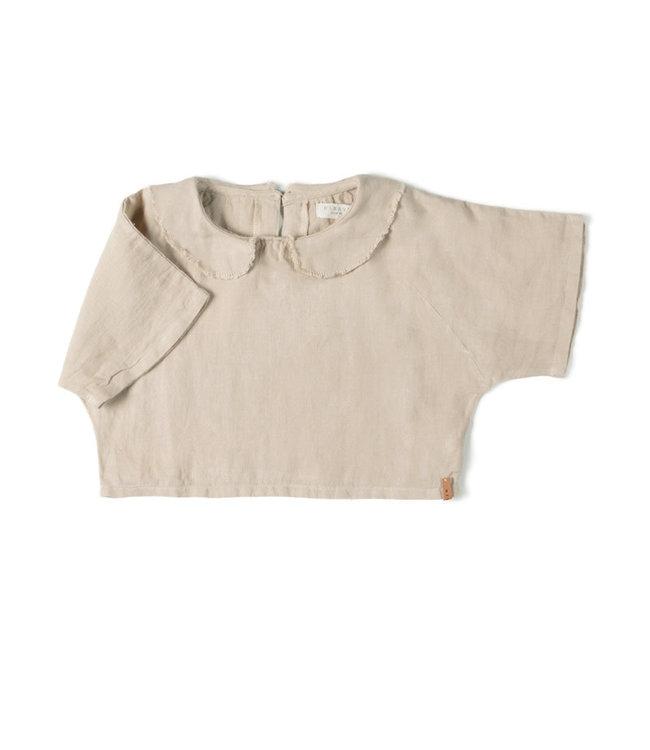 Nixnut Collar top - sand