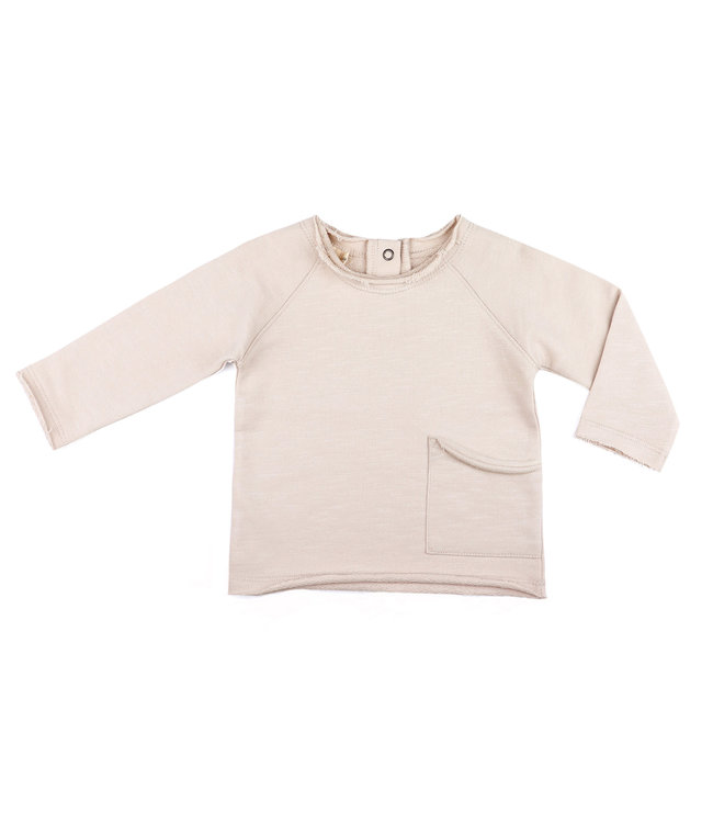 Phil & Phae Raw-edged baby top - oatmeal