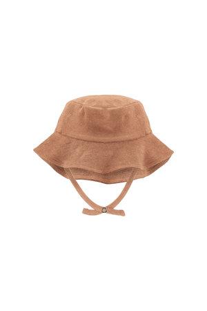 Phil & Phae Frotté sun hat - warm biscuit
