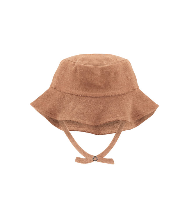 Phil & Phae Frotté sun hat - warm biscuit