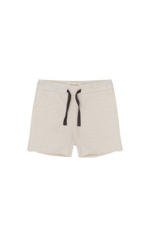 Phil & Phae Raw-edged sweat shorts - oatmeal