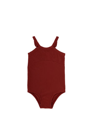 Phil & Phae Swimsuit - deepest brick
