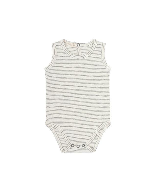 Sleeveless body stripes - vanilla stripe
