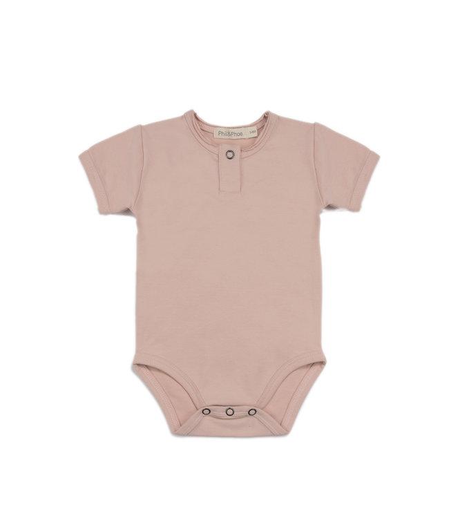 Phil & Phae Henley body short sleeve - vintage blush