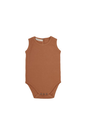 Phil & Phae Sleeveless rib body - terra