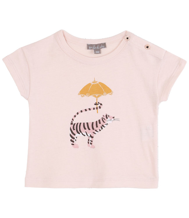 Emile et ida Tee shirt - rose umbrella