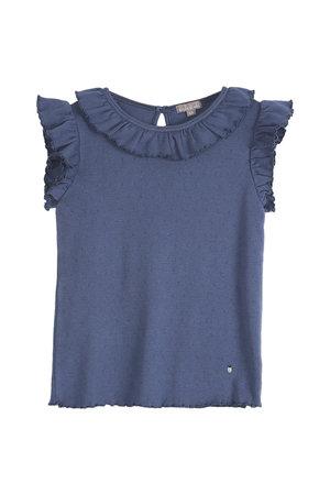 Emile et ida Tee shirt - blue ajoure