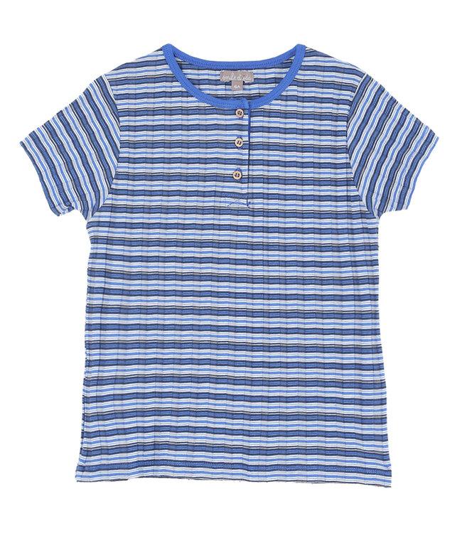 Tee shirt - raye bleu