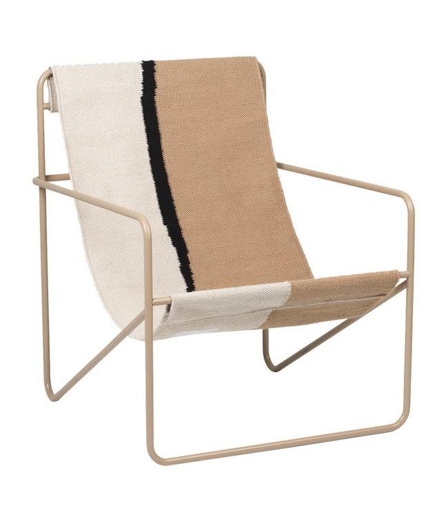 Desert lounge chair - cashmere/soil