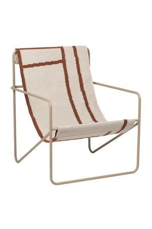 Ferm Living Desert lounge chair - cashmere/shape