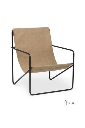 Ferm Living Desert lounge chair - black/sand