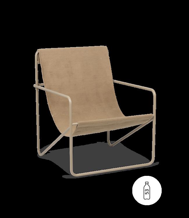 Desert lounge chair - cashmere/sand
