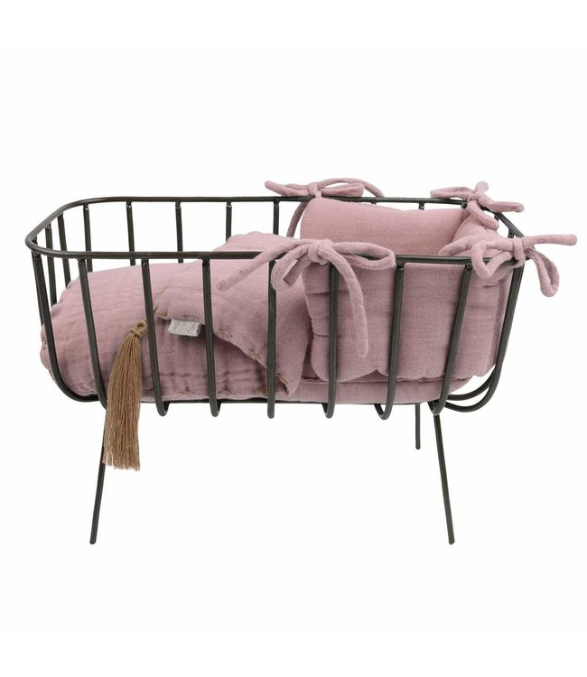 Numero 74 Doll metal crib set mini - dusty pink