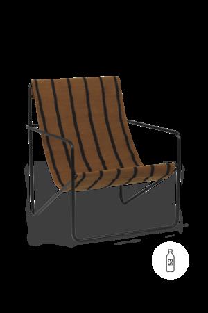Ferm Living Desert lounge chair - black/stripe