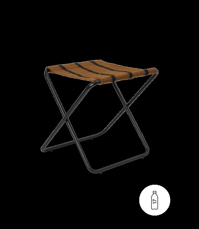 Desert stool - black/stripe