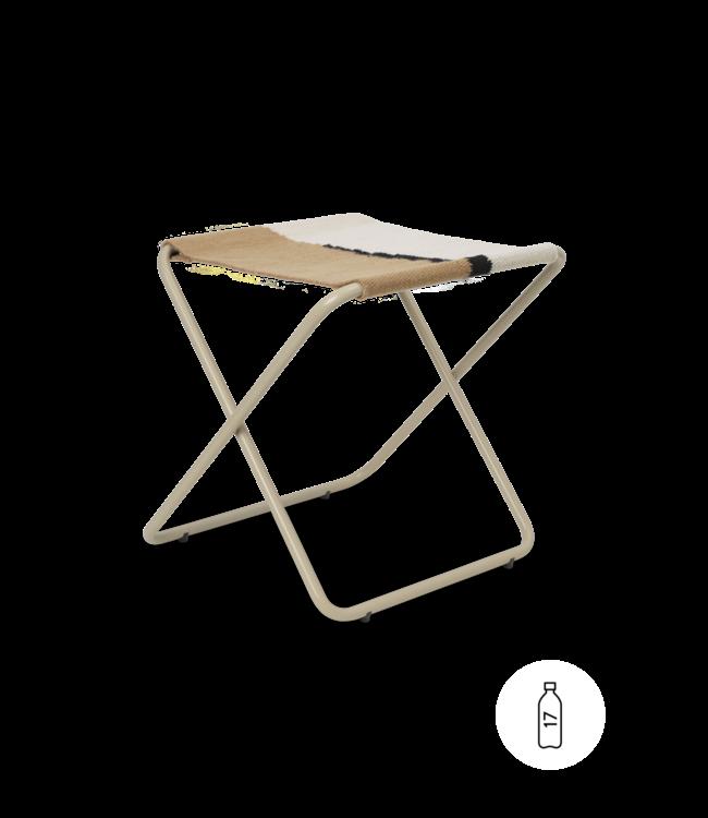 Desert stool - cashmere/soil
