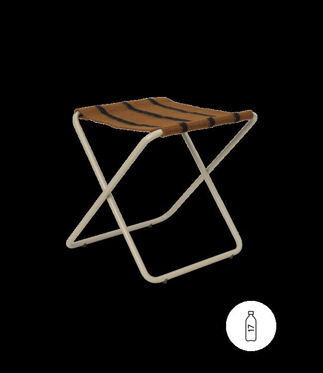 Desert stool - cashmere/stripe