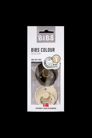 Bibs Fopspeen natuurrubber - blister chocolate/vanille