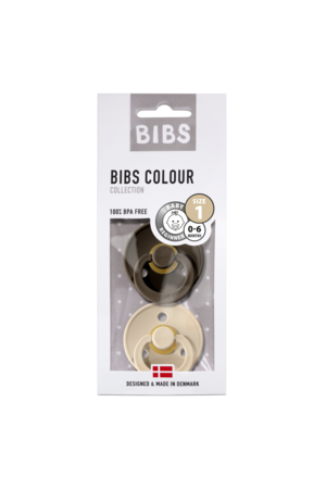 Bibs Pacifier natural rubber - blister chocolate/vanille