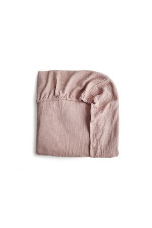 Mushie Crib sheet - blush