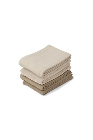Liewood Leon muslin cloth 4-pack - natural/sandy mix