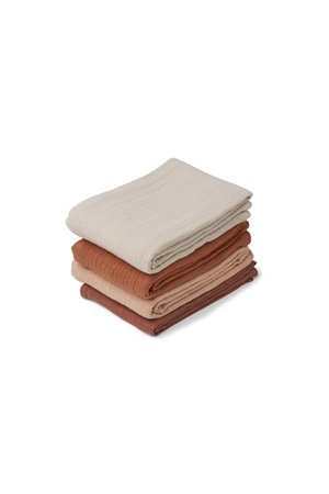 Liewood Leon muslin cloth 4-pack - rose mix
