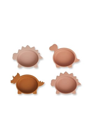 Liewood Iggy silicone kommetje 4-pack - dino rose multi mix