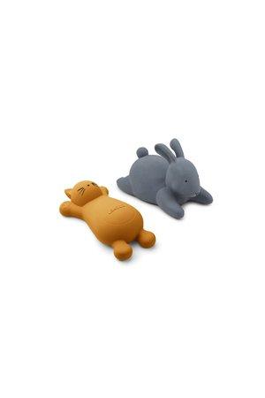 Liewood Vikky badspeeltjes 2-pack - cat mustard