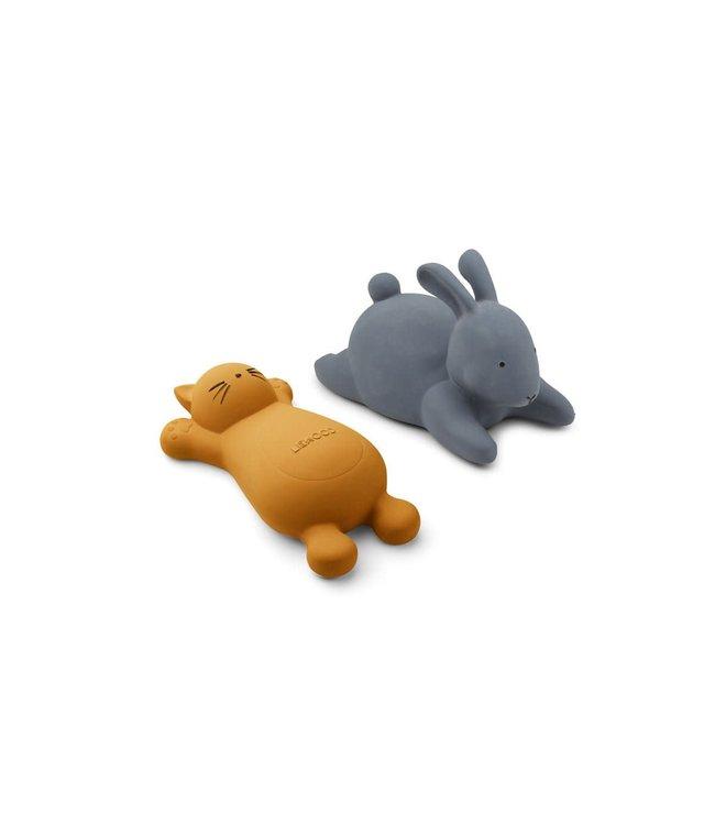 Vikky badspeeltjes 2-pack - cat mustard